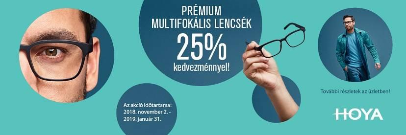 Vásároljon optikánkban Hoya prémium multifokális lencsét most 25%  kedvezménnyel! 25686f13dc